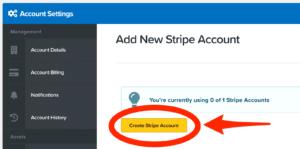 ClickFunnels Dashboard Add new Stripe Account