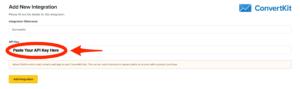 ClickFunnels Dashboard API Key Entry Field