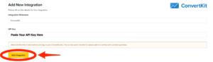 ClickFunnels Dashboard Add Integration Button