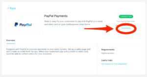 GetResponse PayPal Payments