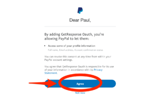 PayPal Agree To Add GetResponse Button