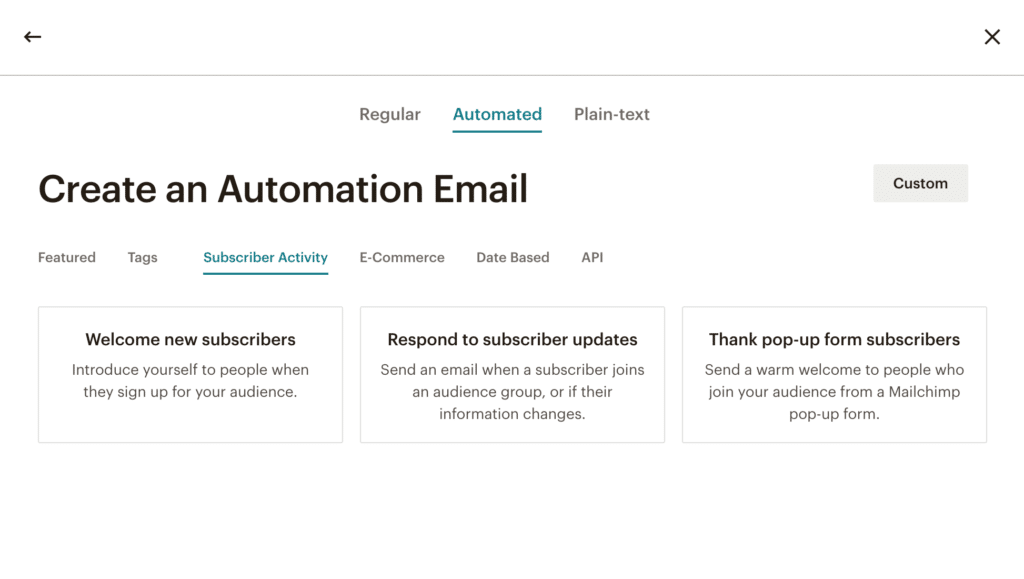 MailChimp Create An Automated Workflow