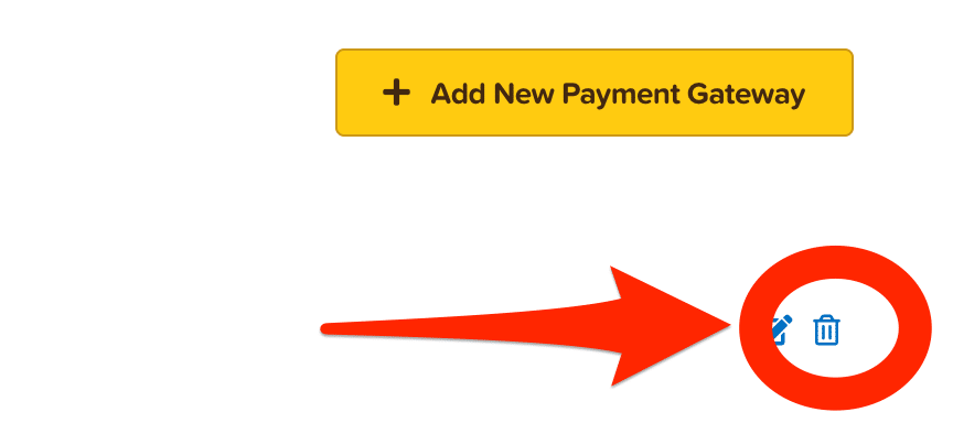 ClickFunnels payment gateway trash icon