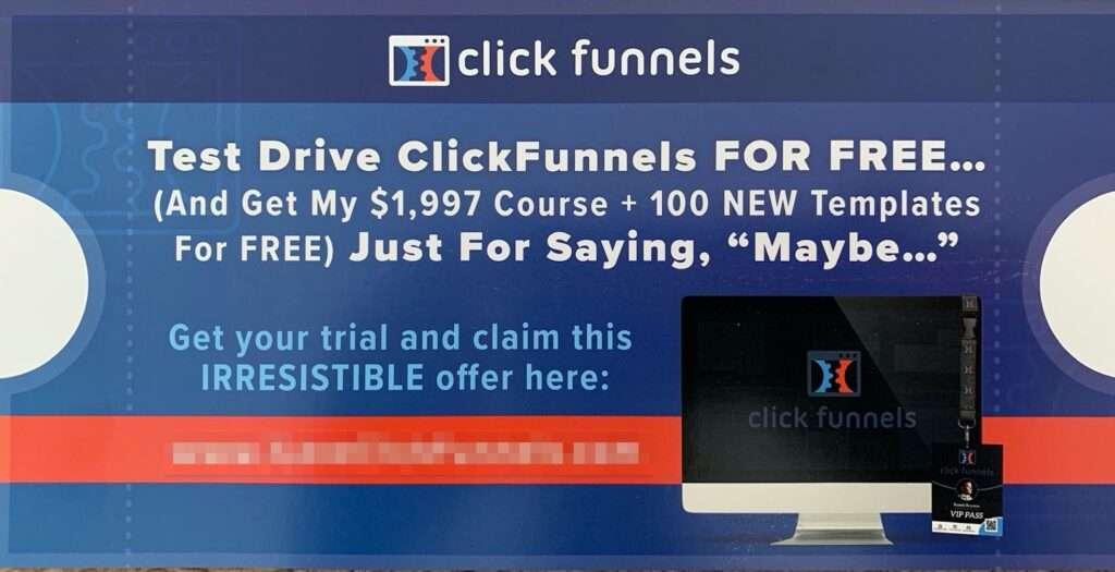 test drive clickfunnels for free voucher