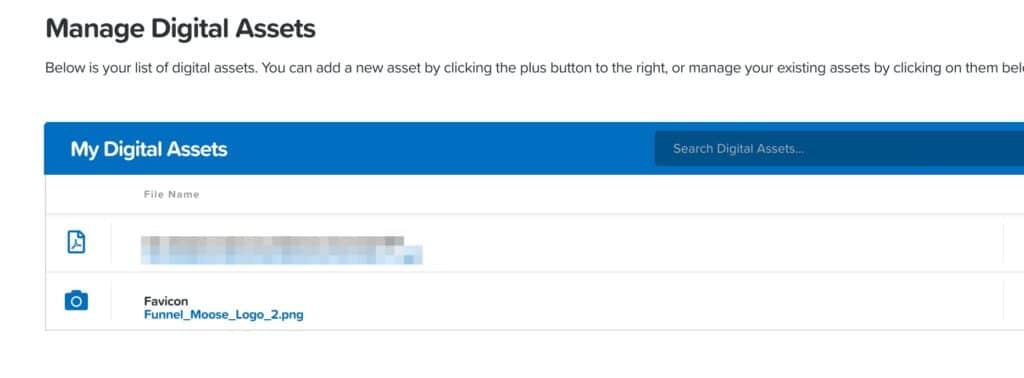 clickfunnels digital asset list