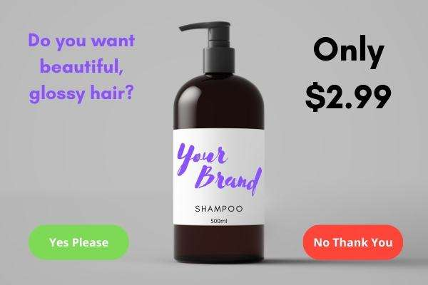 Example Sale sFunnel Page For Shampoo